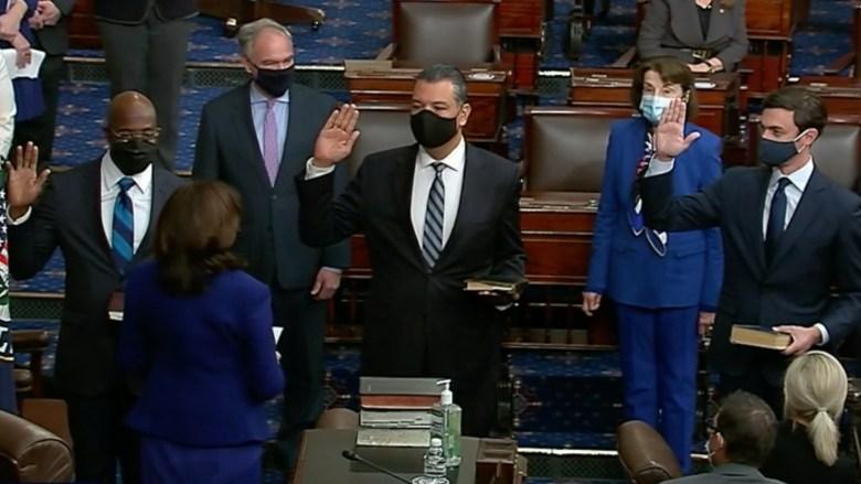 Alex Padilla is sworn in