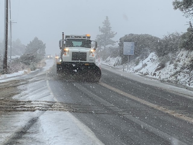 Caltrans snow plow