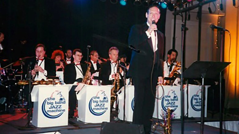 Tom Blair sings with the Big Band Jazz Machine on New Year's Eve — Dec. 31, 1995.