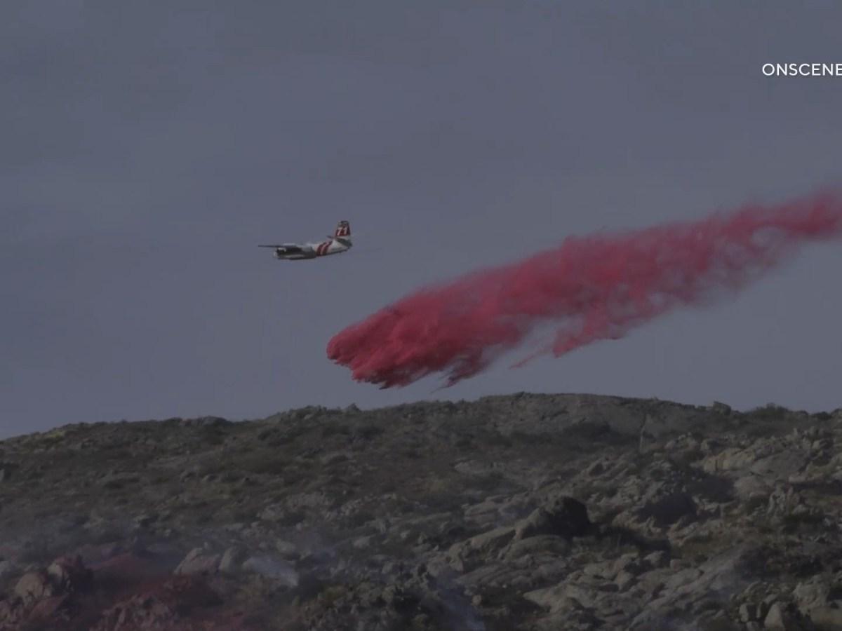 Border Fire Near Campo
