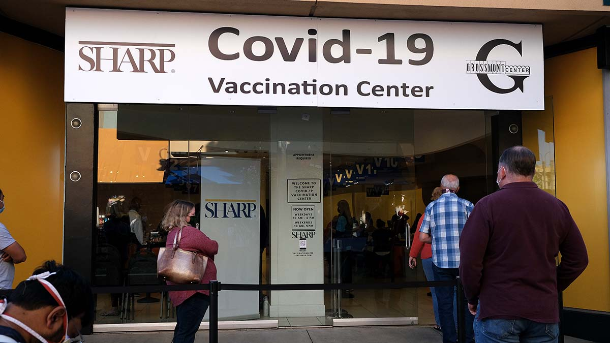 Sharp has opened a vaccination supersite at Grossmont Center in La Mesa.