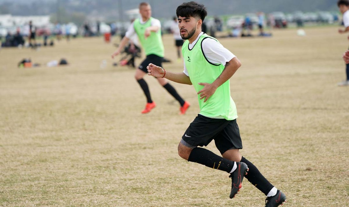 Brian Guzman of Seattle was asked to play in a second tryout game to show his talent to San Diego Loyal coaches.