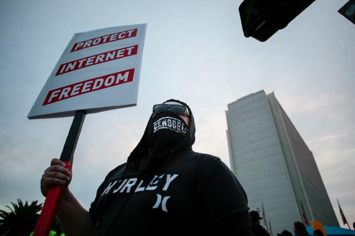 Net neutrality demonstration