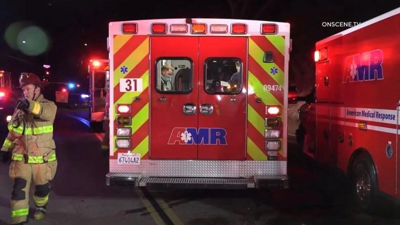 Multiple ambulances at the scene