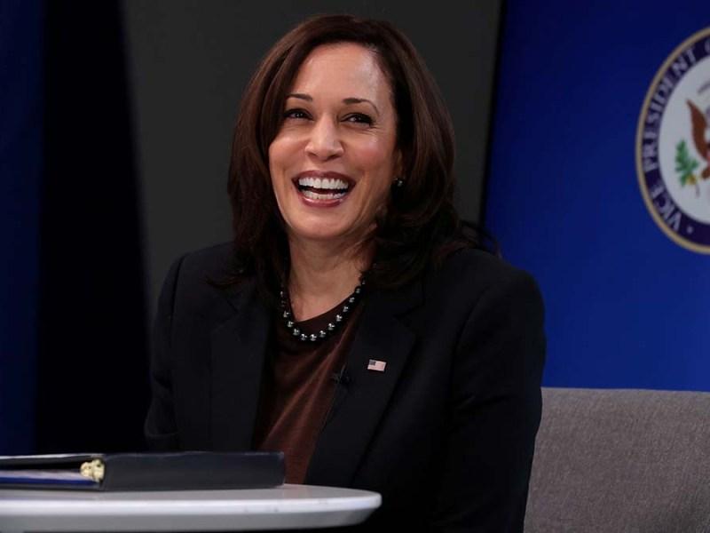 Vice President Harris addresses the House Democratic caucus