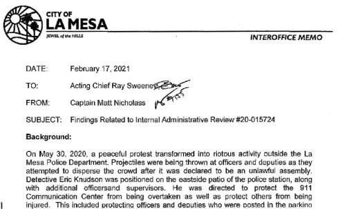 Report on May 30, 2020, Leslie Furcron shooting. (PDF)