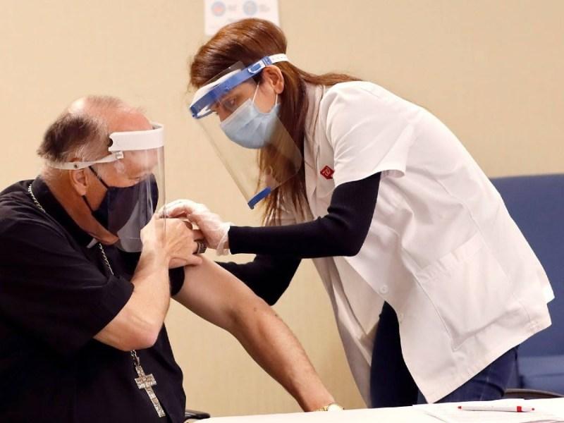 Bishop McElroy is vaccinated