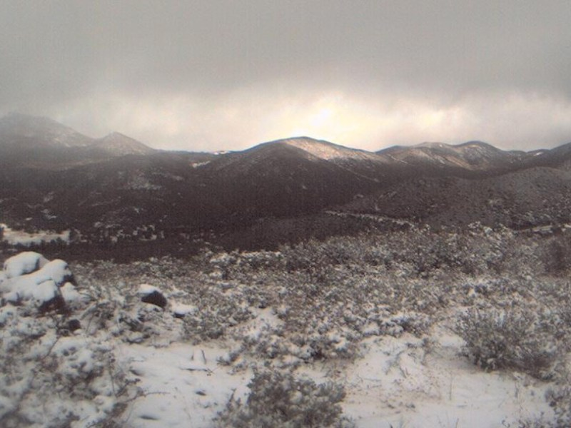 Snowfall near Julian
