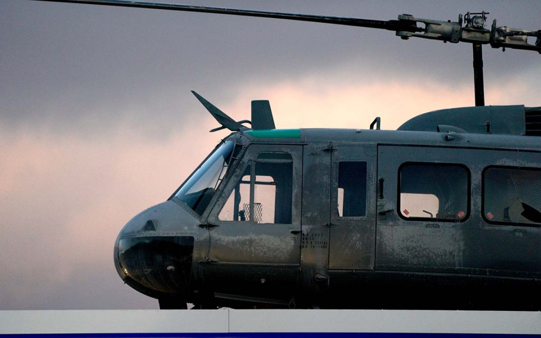 Reagan Shallal says he bought the Vietnam-era helicopter at a bargain price — $42,500.