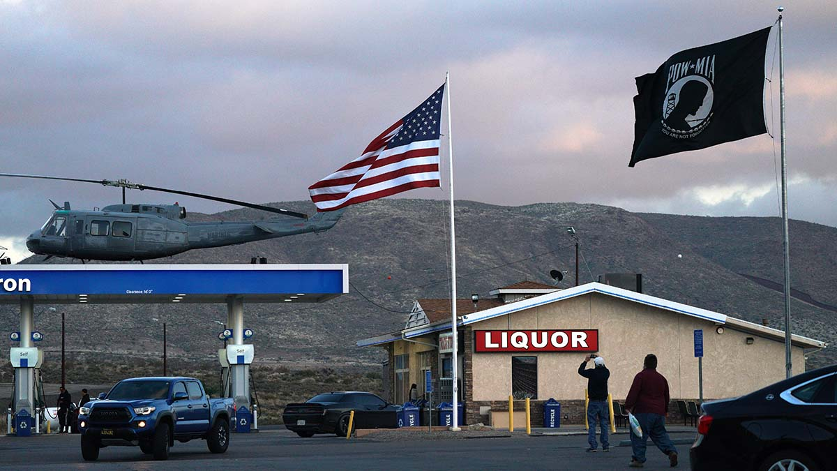 Reagan Shallal says Marines by the hundreds stop by his truck stop at I-8 Exit 73 — and salute the POW-MIA flag.