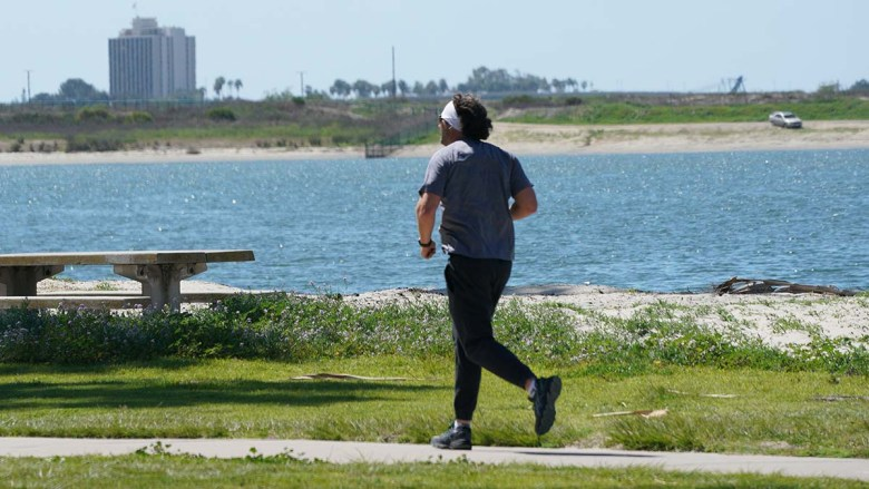 Mission Bay Park has close to 14 miles of paths.