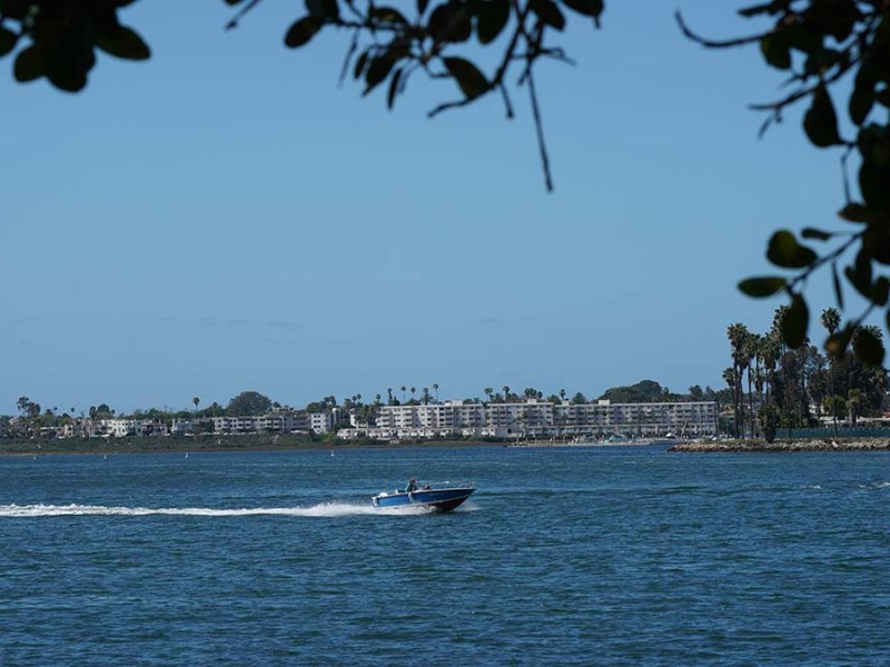 Mission Bay Park consists of over 4,235 acres in roughly equal parts land and water.