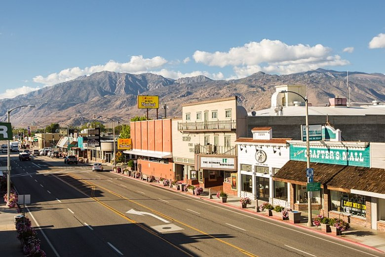 Downtown Bishop in Inyo County