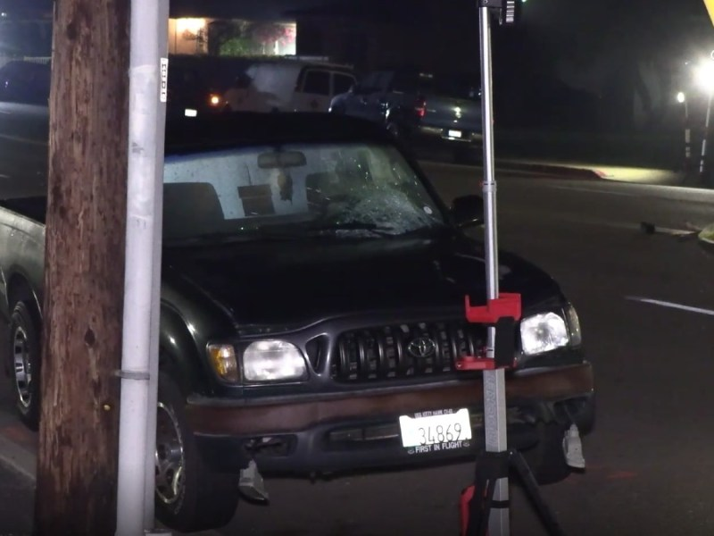 Pickup truck involved in fatal accident