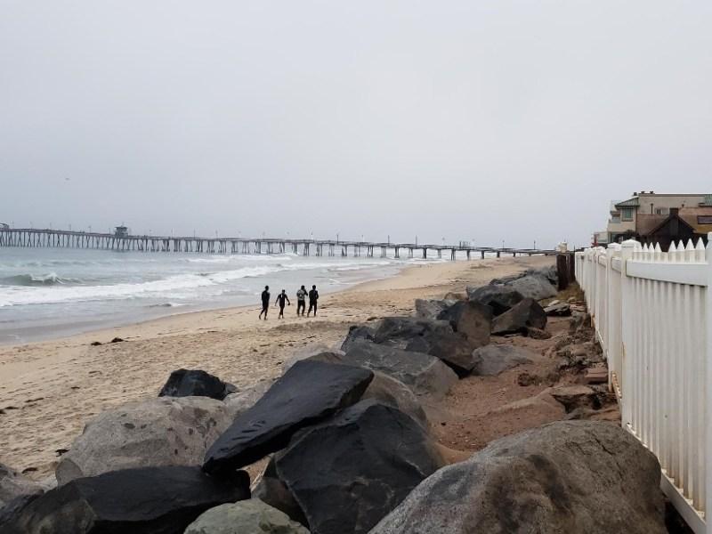 Migrants on beach