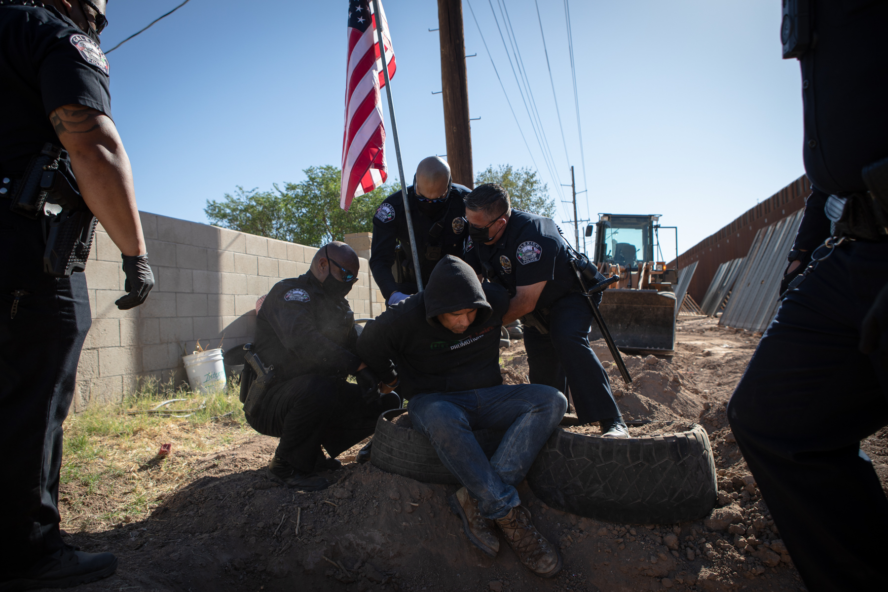 Calexico Police Clear Out Controversial Farmworker Encampment - Times of San Diego