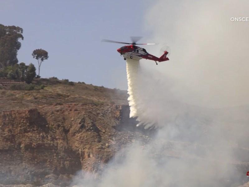 Brush fire San Diego