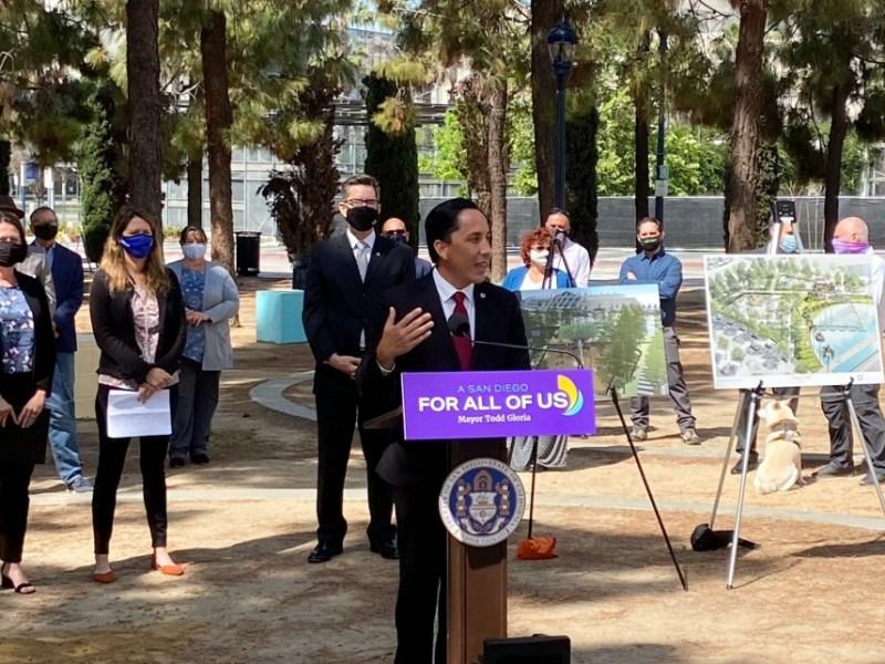 Mayor Gloria at park groundbreaking
