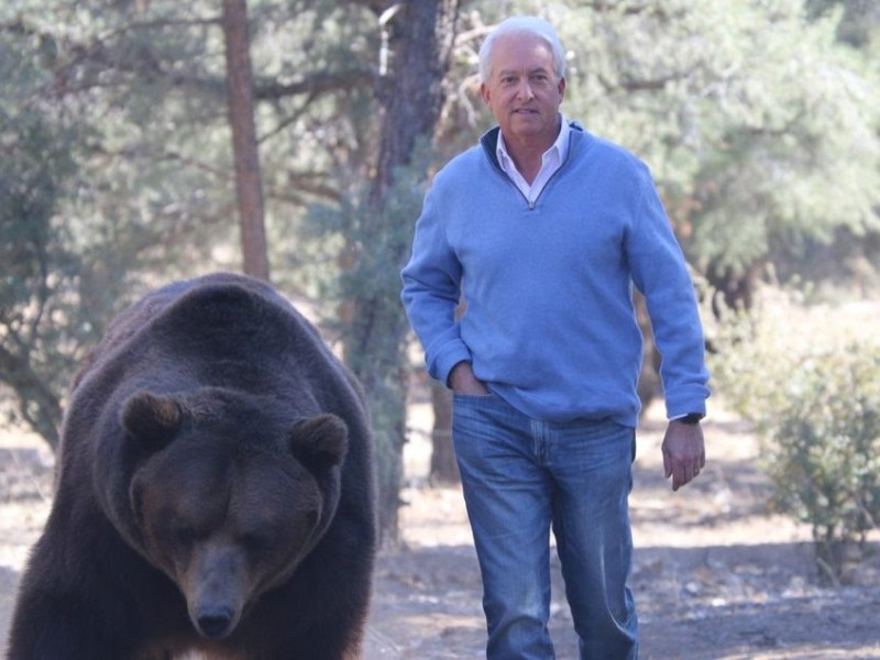 John Cox with bear