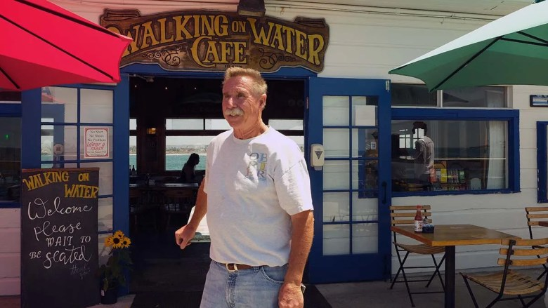 Chuck Fisher has held the lease to the Walking on Water Café on the Ocean Beach Pier since 1993.