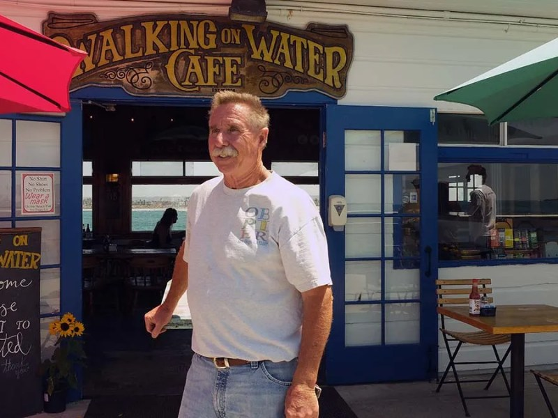 Chuck Fisher has held the lease to the cafe and bait shop since 1993 and welcomes customers back after about five months. Photo by Chris Stone
