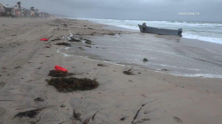 Abandoned panga boat