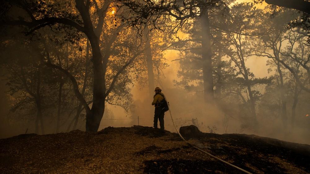 A private firefighter in Calistoga