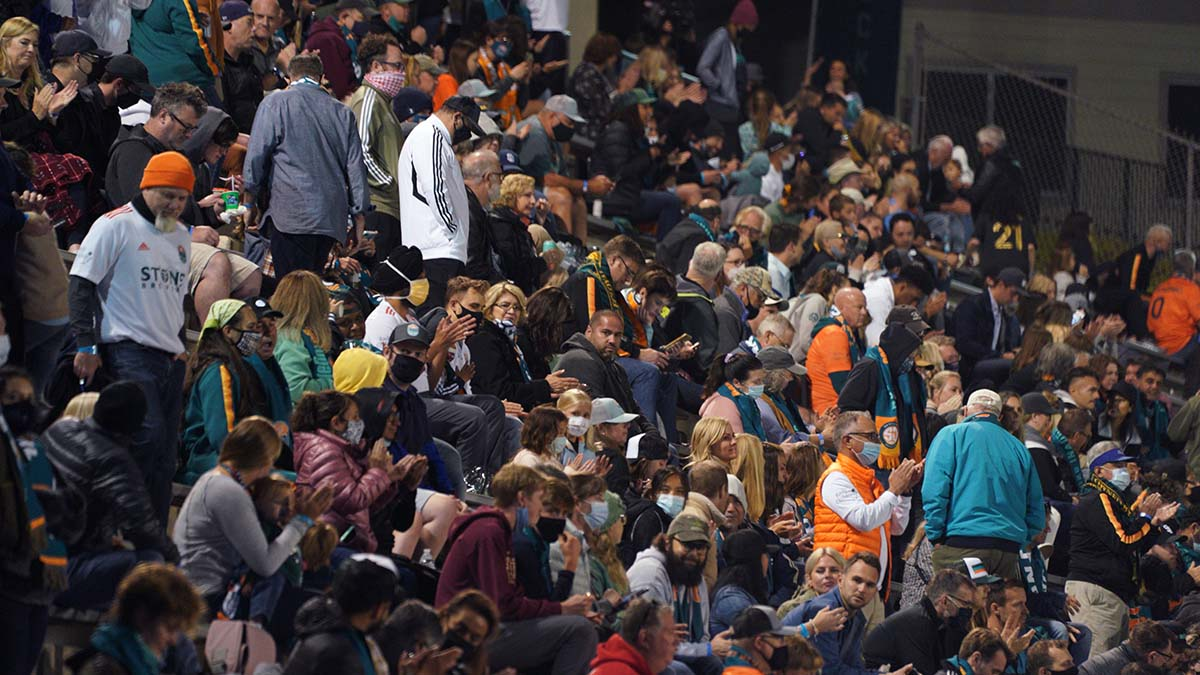 About 2,000 fans cheered on the San Diego Loyal, which won its first game of the season. Photo by Chris Stone