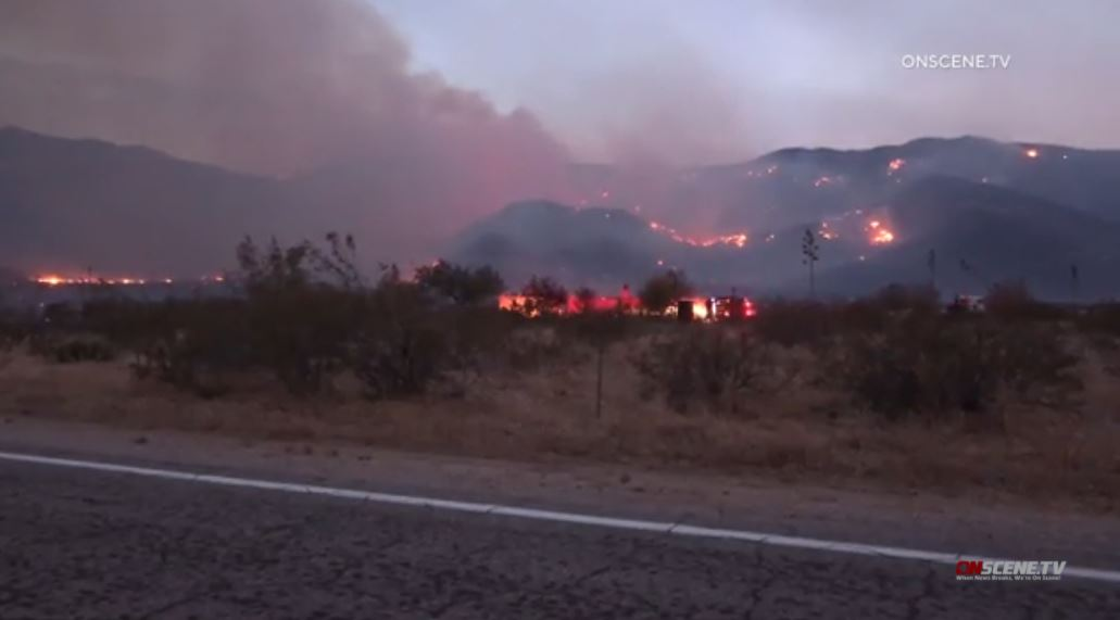 Flames from Southern Fire