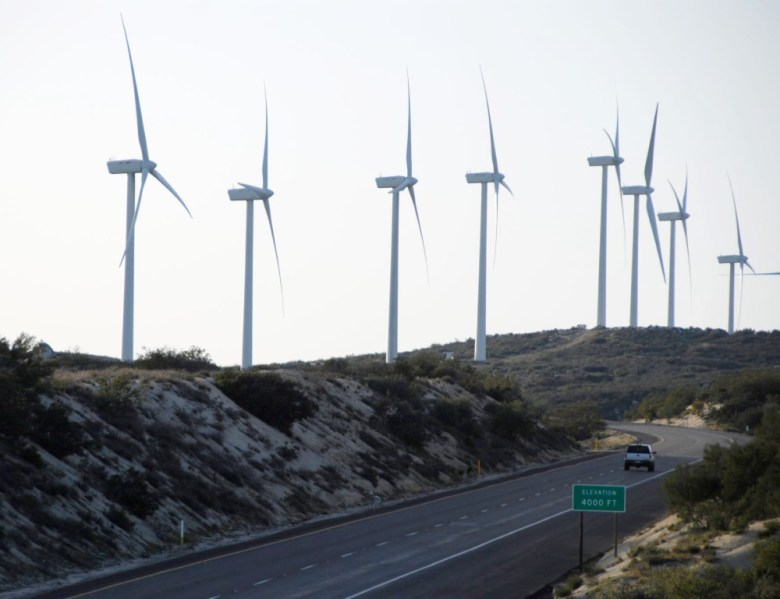 Wind turbines in East County