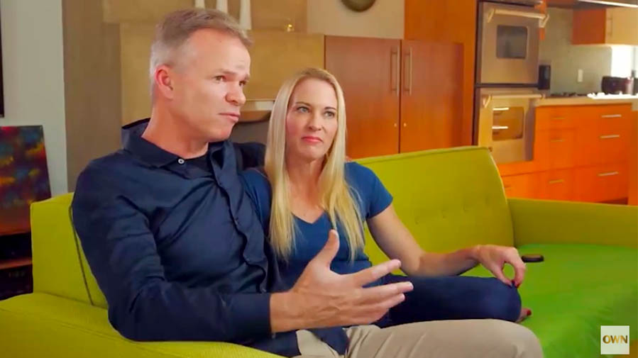 Mark and Suzy Favor Hamilton during interview with Oprah Winfrey in August 2016.