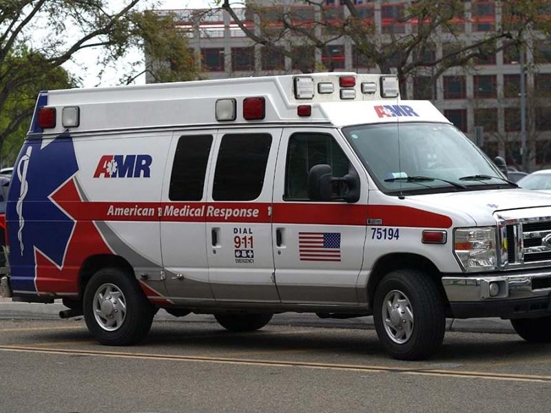 AMR ambulance service. Photo by Chris Stone