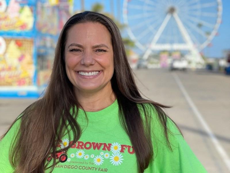 Jennifer Hellman at the fair.