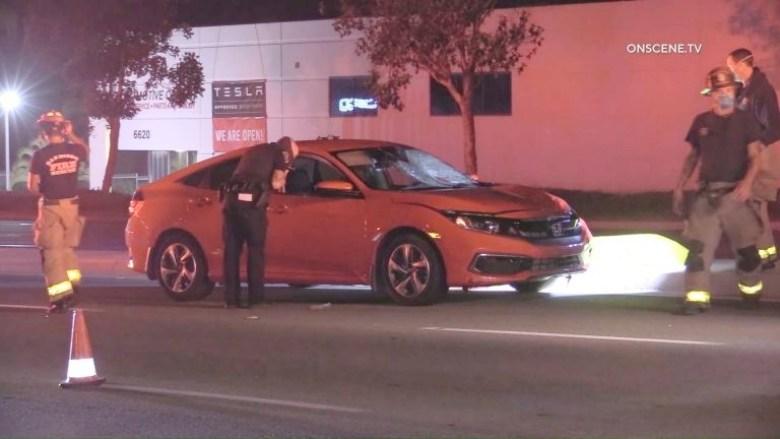 Police examine Honda Civic