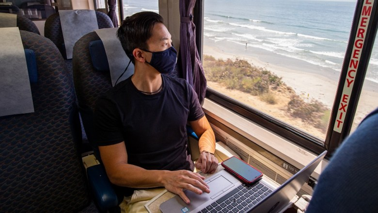 Riding on the Pacific Surfliner