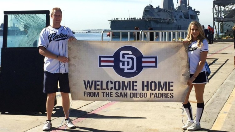Padres welcome USS San Diego to home port