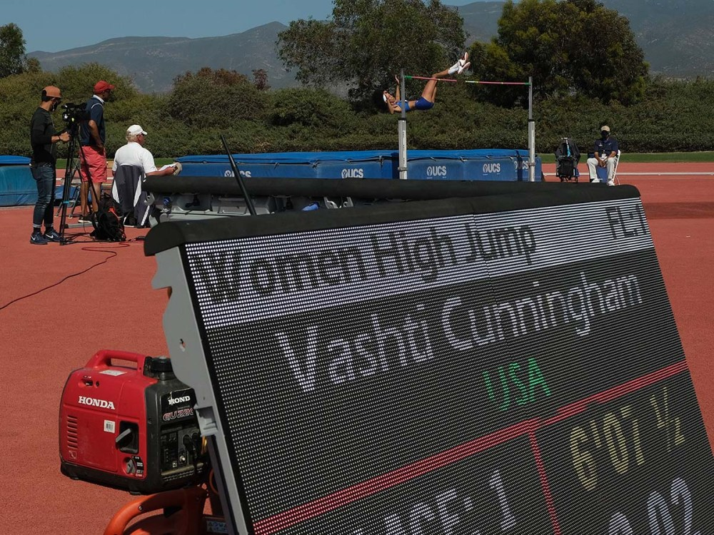 Vashti Cunningham is 2 centimeters ahead of the world with her personal best 2.02 meters — 6 feet 7 1/2