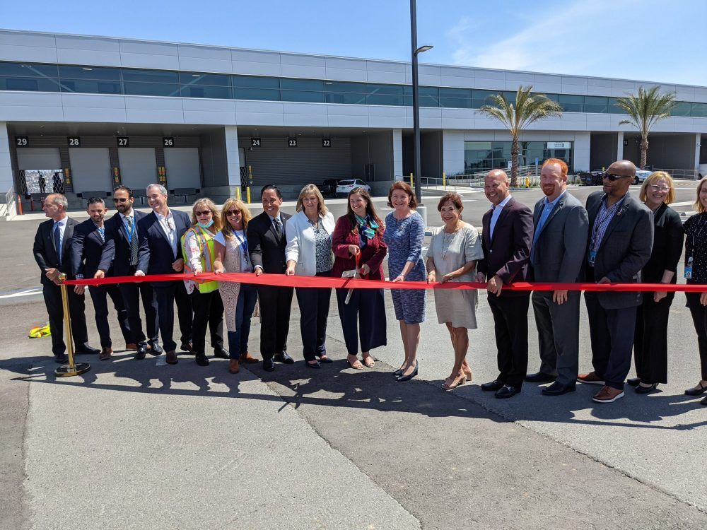 Ribbon cutting for new building