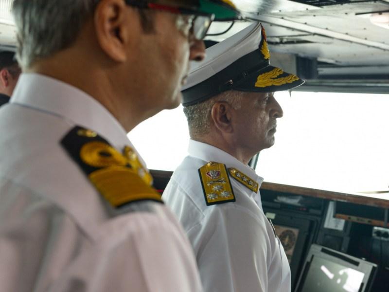 G. Ashok Kumar tours the USS Theodore Roosevelt