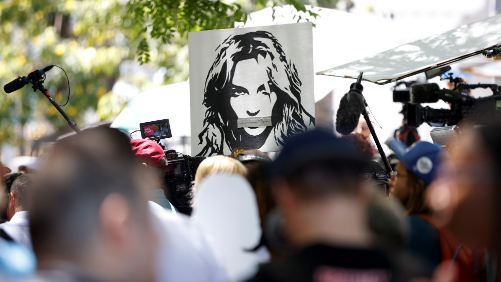 Protest in support of Britney Spears