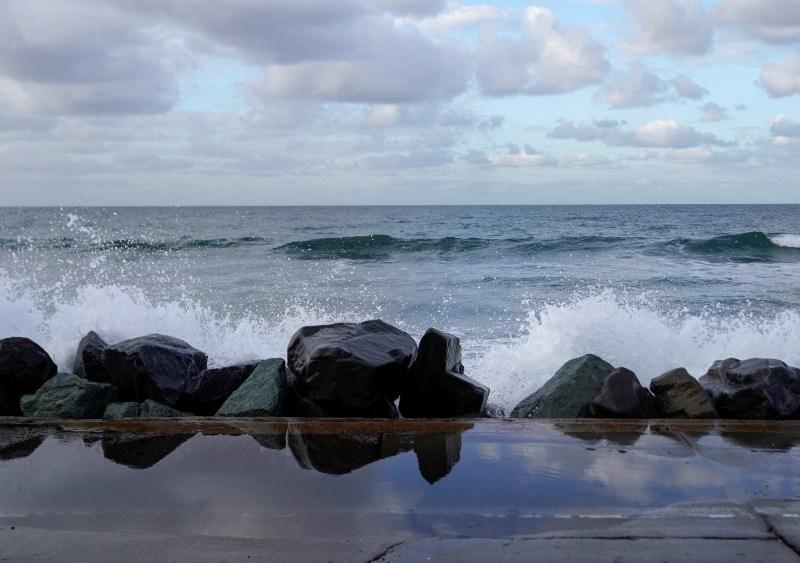 Coastal flooding in Oceanside