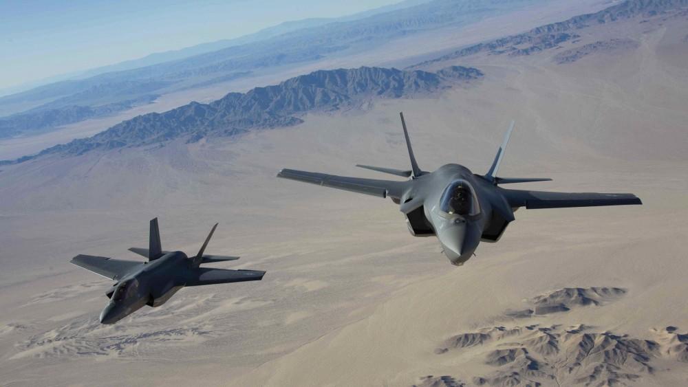 F-35Cs in flight