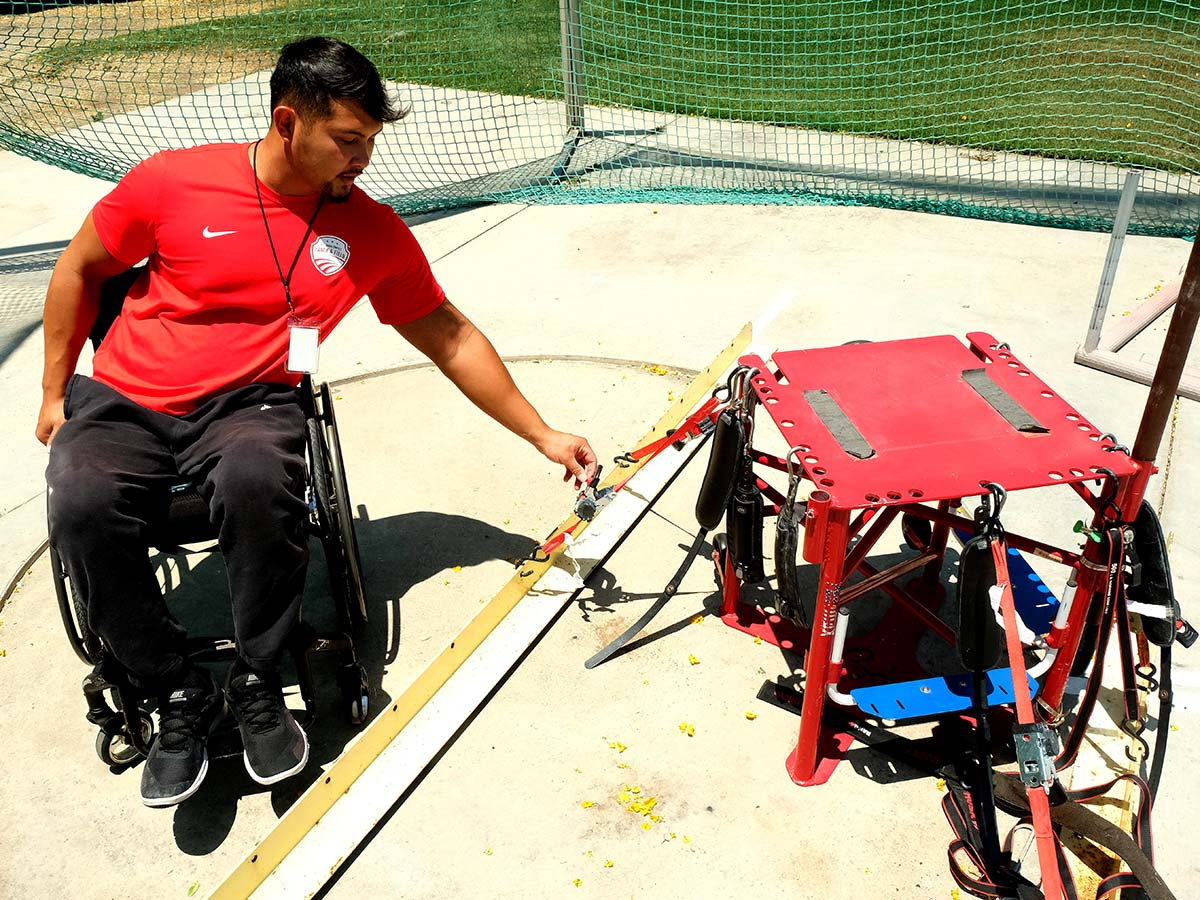 Justin Phongsavanh.and his training chair.