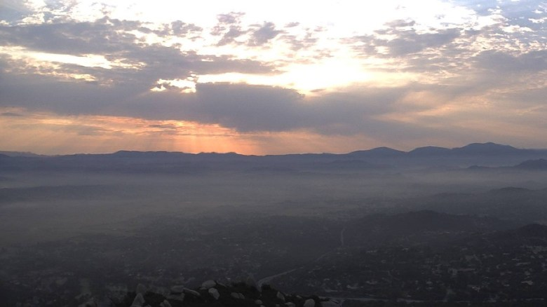 Sunrise from Mount Woodson
