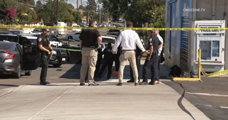 Police at scene of stabbing death