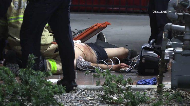Suspect on the ground