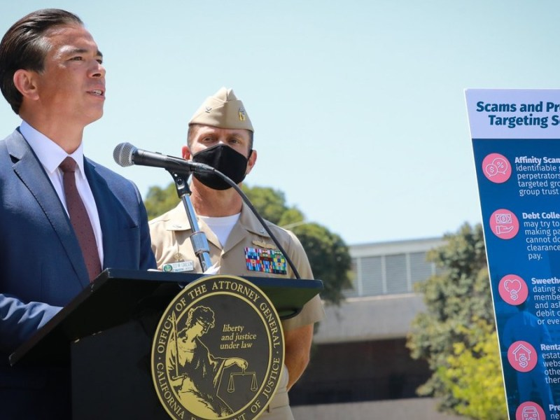 Rob Bonta at Naval Base San Diego