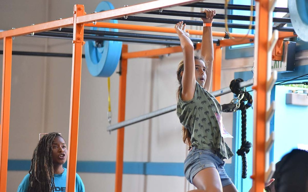 Youth were able to complete a parkour course at G3Kids Gym. Photo by Chris Stone