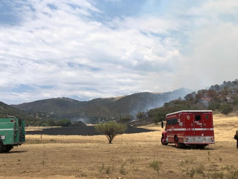 Santa Ysabel brush fire