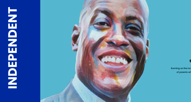 Ty Humes portrait on his campaign website.